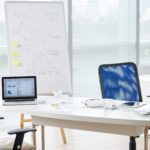 complete managed it services office desk with laptops